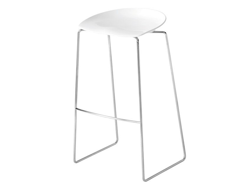 High Nylon® stool with footrest FLAN by Desalto