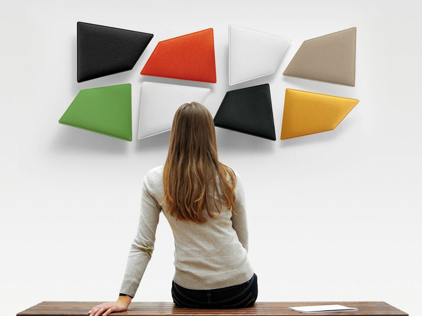 Decorative acoustical panel FLAP by Caimi Brevetti