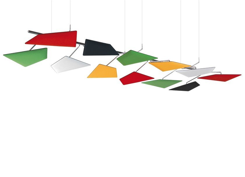 Fabric hanging acoustic panel FLAP   Hanging acoustic panel by Caimi Brevetti