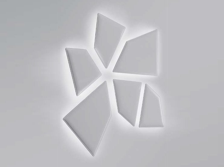 Pannello acustico a parete in tessuto con illuminazione integrata FLAP LUX | Pannello acustico a parete con illuminazione integrata by Caimi Brevetti