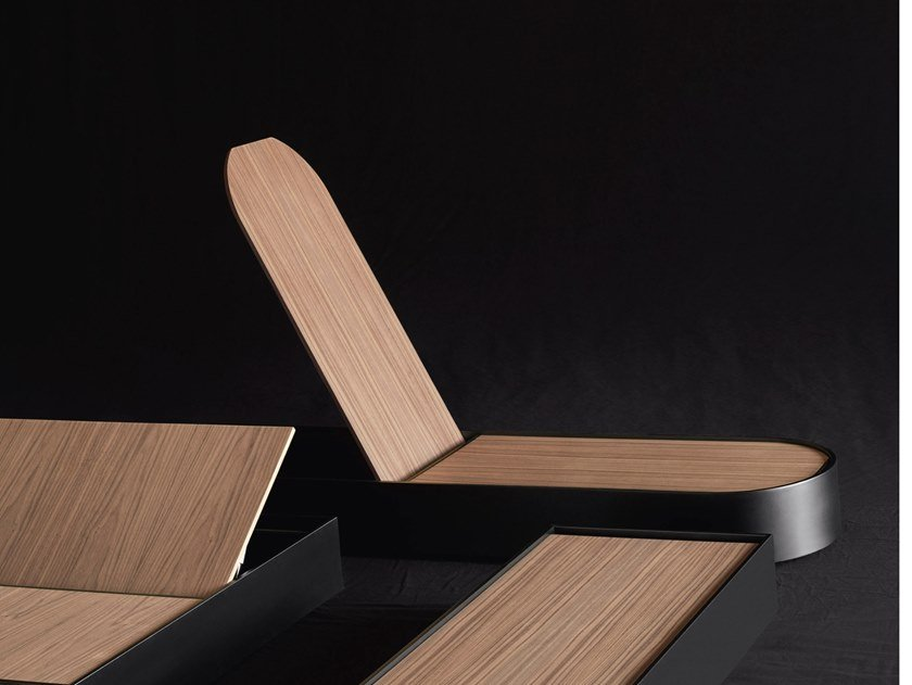 Mesa de centro de café de madeira com armazenamento FLAP by Living Divani