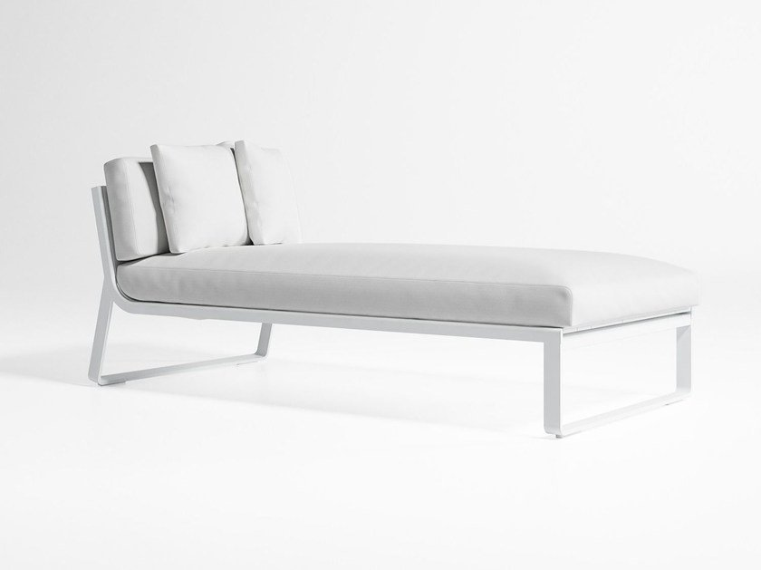 Thermo lacquered aluminium garden daybed FLAT 5 by GANDIA BLASCO
