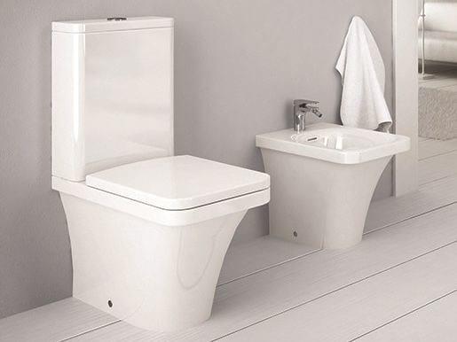 Close coupled ceramic toilet FLAT | Close coupled toilet by Hidra Ceramica