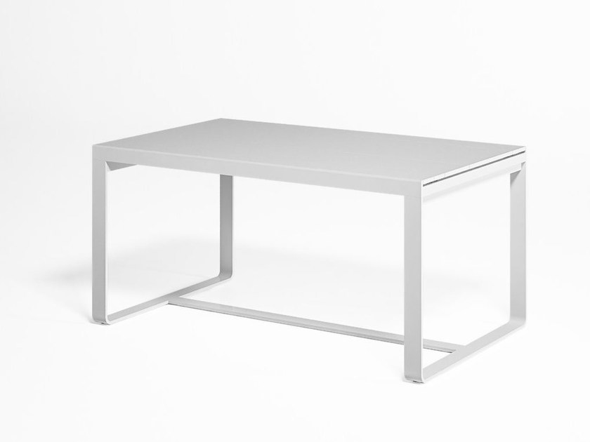 Rectangular thermo lacquered aluminium garden table FLAT | Rectangular table by GANDIA BLASCO