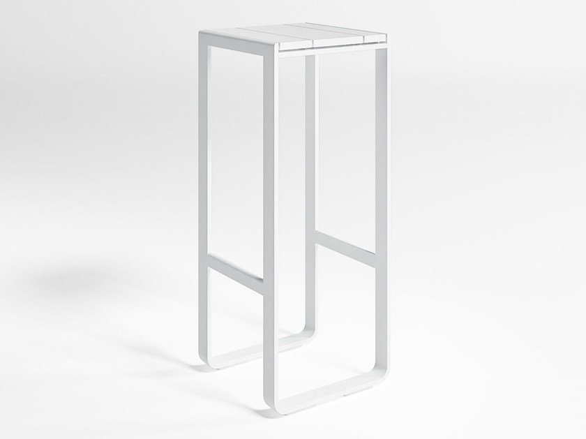 High thermo lacquered aluminium garden stool with footrest FLAT | High stool by GANDIA BLASCO