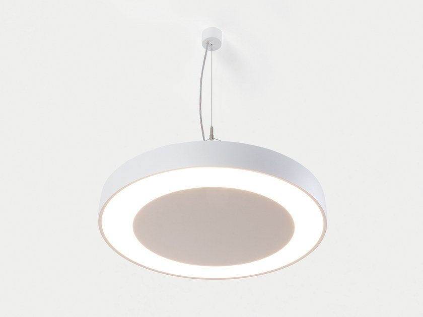 LED aluminium pendant lamp FLAT MOON ECLIPS | Pendant lamp by Modular Lighting Instruments