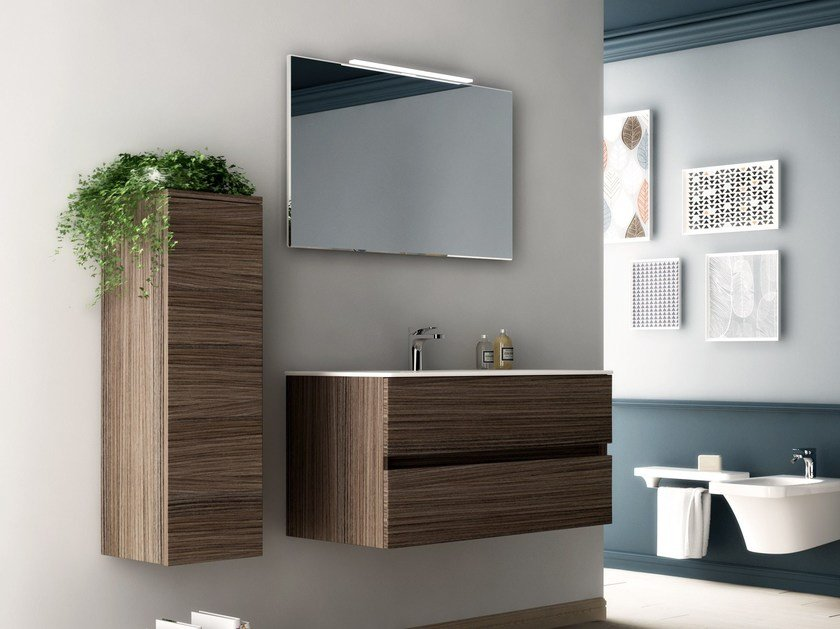 Wooden bathroom furniture set FLAT | Bathroom furniture set by Hidra Ceramica