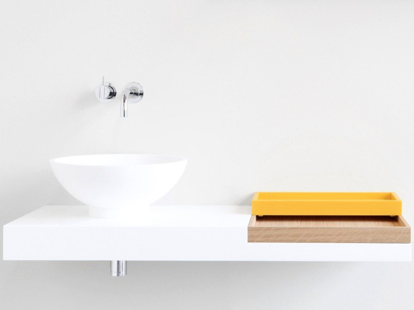HI-MACS® washbasin countertop FLAT by Not Only White