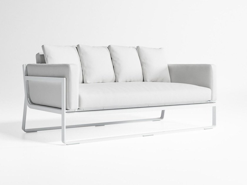 2 seater thermo lacquered aluminium sofa FLAT | Sofa by GANDIA BLASCO