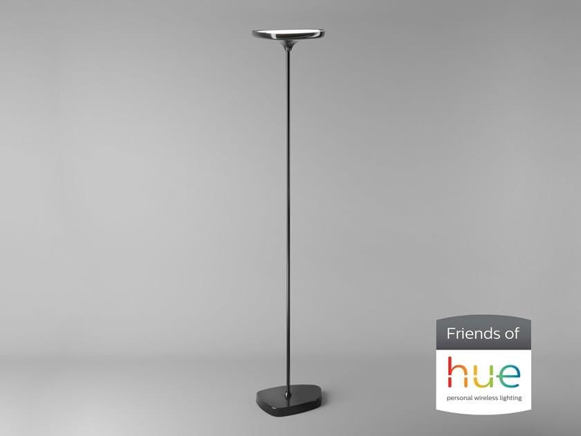 Lampada da terra a LED in PMMA FLAT T HUE by Makris