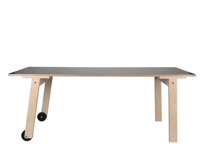 Tavolino Con Le Ruote.Flat Tavolo Con Ruote By Rform