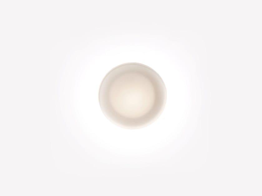Applique a LED in vetro opale FLATWHITE W1 by ADesignStudio