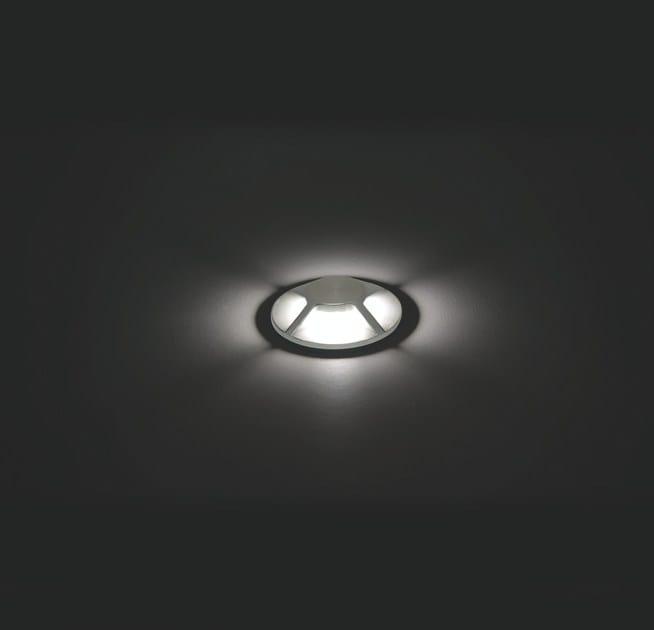 LED walkover light aluminium steplight FLEA F.876 by Francesconi & C.