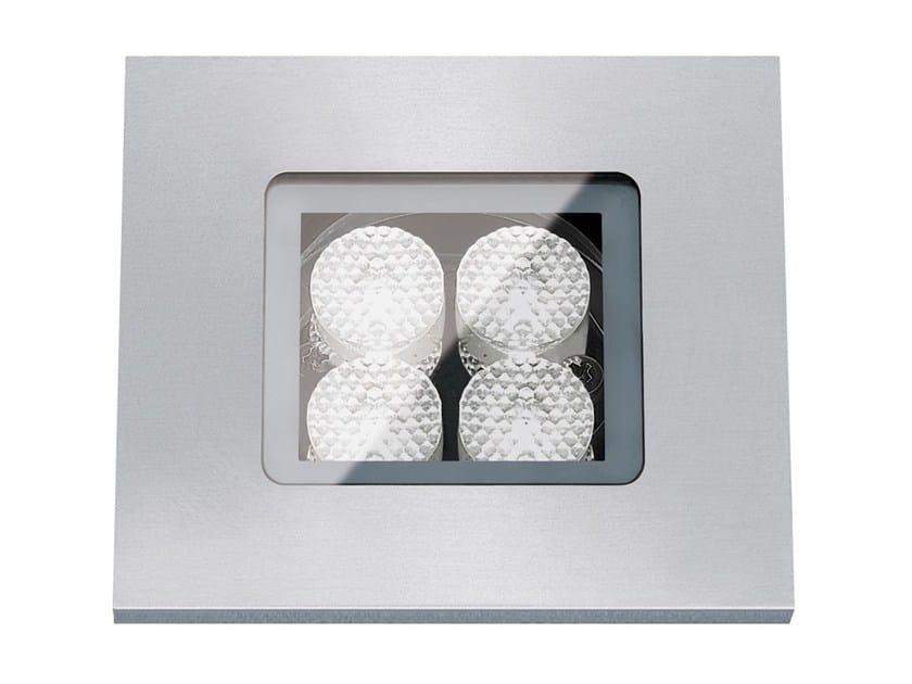 Segnapasso a LED a pavimento in metallo per esterni FLEA.Q80 by Francesconi & C.