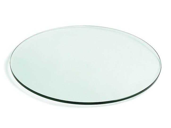 Piano per tavoli rotondo in vetro temperato FLEN T6 By Montbel