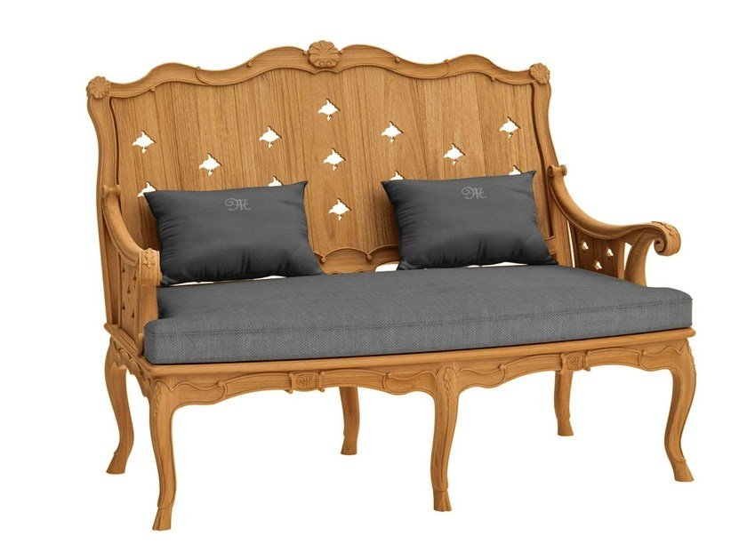2 seater teak sofa FLEUR DE LYS | Sofa by ASTELLO