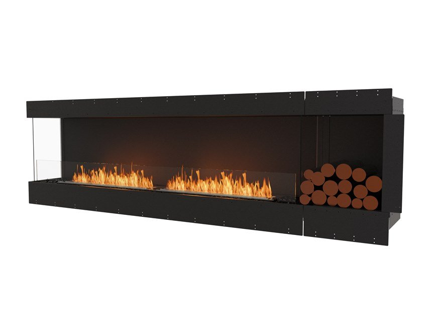 Bioethanol steel Fireplace insert with Panoramic Glass FLEX 104LC BXL by EcoSmart Fire