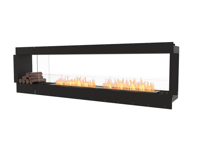 Bioethanol Double-sided steel Fireplace insert with Panoramic Glass FLEX 104DB BX1 by EcoSmart Fire