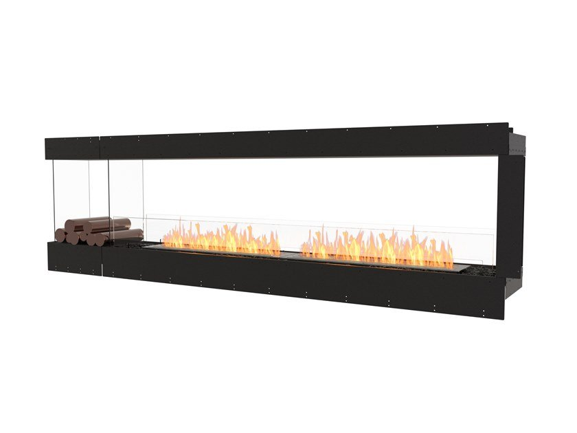 Bioethanol steel Fireplace insert with Panoramic Glass FLEX 104PN BXL by EcoSmart Fire