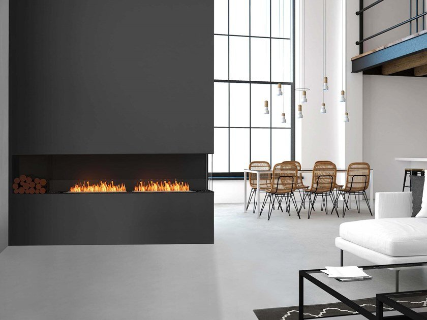 Bioethanol steel Fireplace insert with Panoramic Glass FLEX 104RC BXL by EcoSmart Fire
