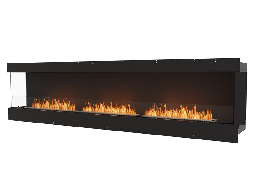 Bioethanol steel Fireplace insert with Panoramic Glass FLEX 122LC by EcoSmart Fire