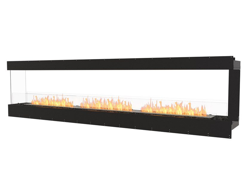 Bioethanol steel Fireplace insert with Panoramic Glass FLEX 122PN by EcoSmart Fire