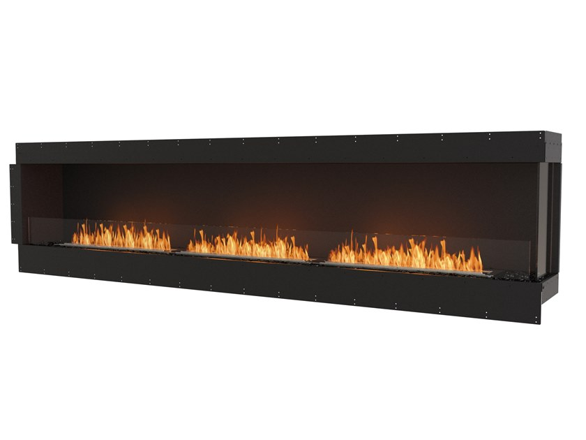 Bioethanol steel Fireplace insert with Panoramic Glass FLEX 122RC by EcoSmart Fire