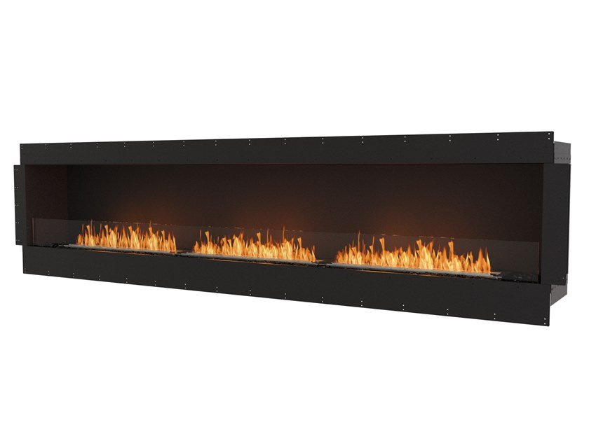 Bioethanol steel Fireplace insert with Panoramic Glass FLEX 122SS by EcoSmart Fire