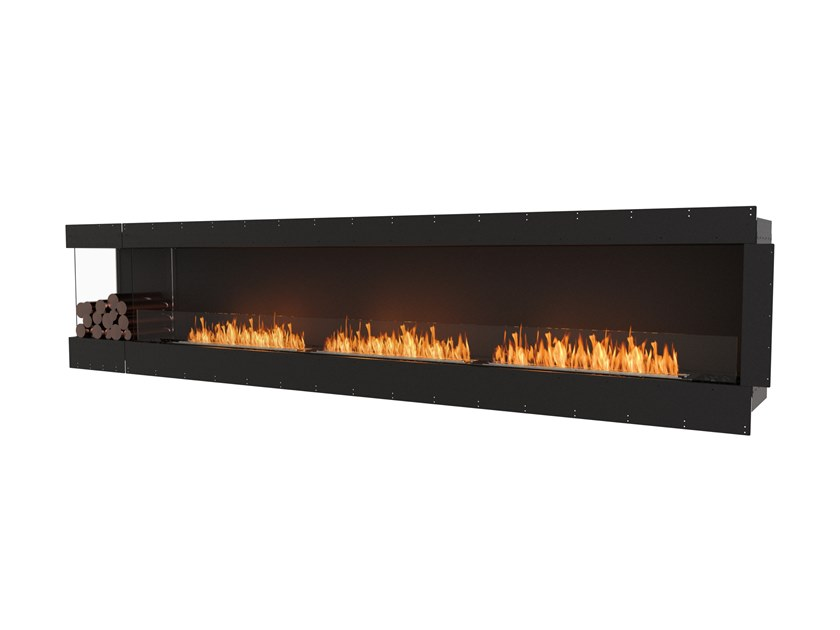 Bioethanol steel Fireplace insert with Panoramic Glass FLEX 140LC BXL by EcoSmart Fire