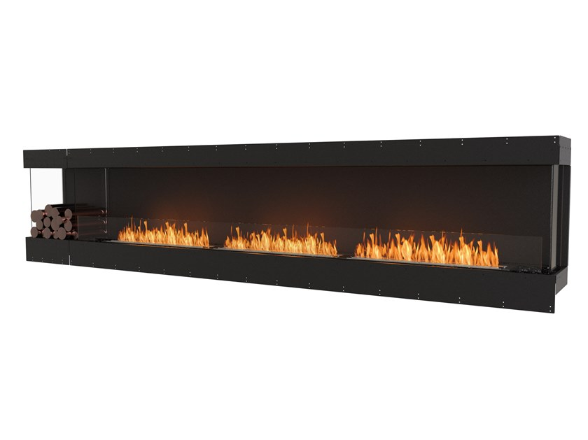 Bioethanol steel Fireplace insert with Panoramic Glass FLEX 140BY BXL by EcoSmart Fire