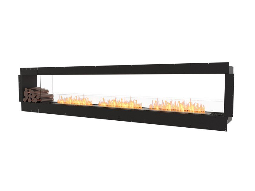 Bioethanol Double-sided steel Fireplace insert with Panoramic Glass FLEX 140DB BX1 by EcoSmart Fire