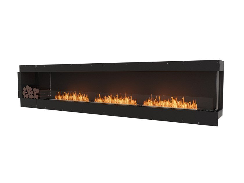 Bioethanol steel Fireplace insert with Panoramic Glass FLEX 140RC BXL by EcoSmart Fire