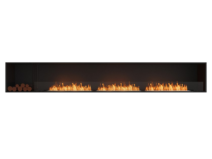 Bioethanol steel Fireplace insert with Panoramic Glass FLEX 140SS BXL by EcoSmart Fire