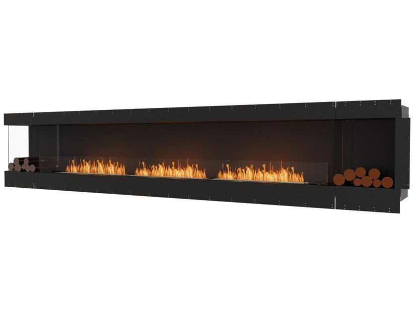 Bioethanol steel Fireplace insert with Panoramic Glass FLEX 158LC BX2 by EcoSmart Fire