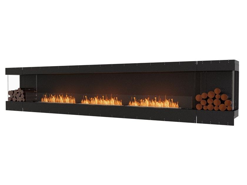 Bioethanol steel Fireplace insert with Panoramic Glass FLEX 158BY BX2 by EcoSmart Fire