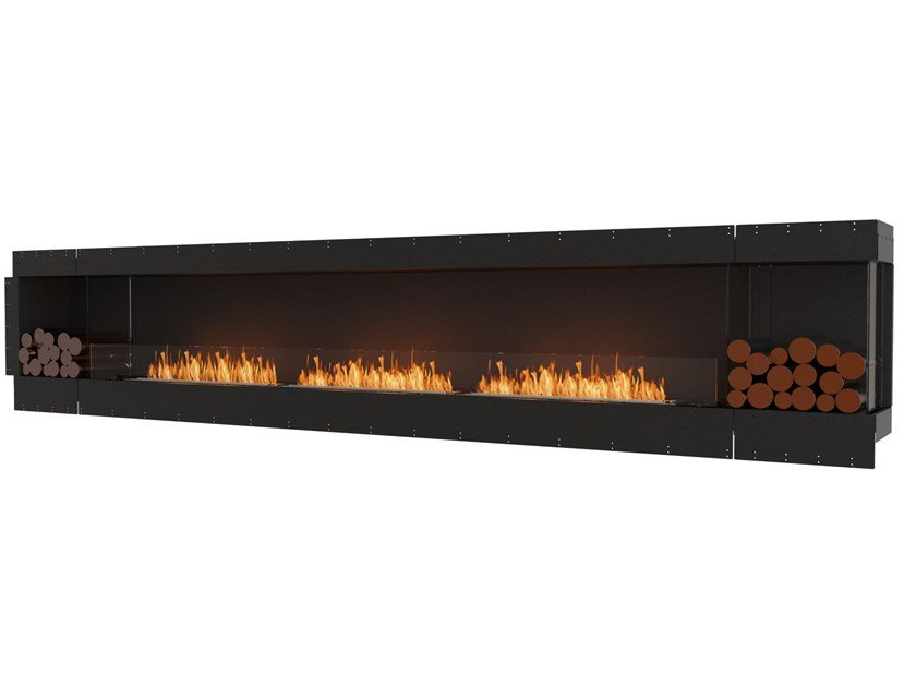 Bioethanol steel Fireplace insert with Panoramic Glass FLEX 158RC BX2 by EcoSmart Fire