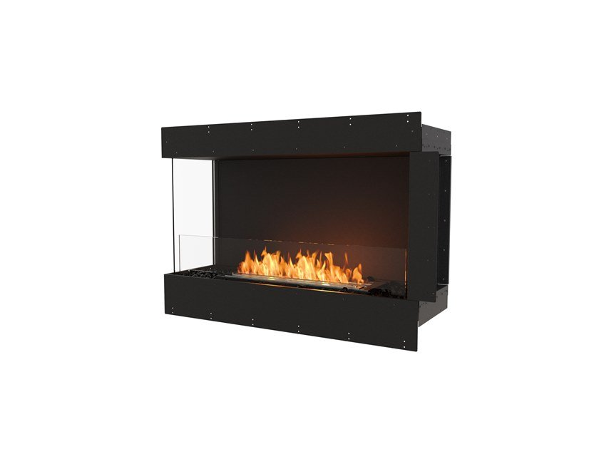 Bioethanol steel Fireplace insert with Panoramic Glass FLEX 42LC by EcoSmart Fire