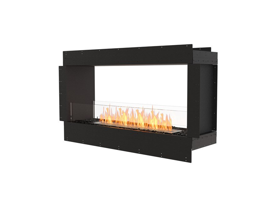 Bioethanol Double-sided steel Fireplace insert with Panoramic Glass FLEX 50DB by EcoSmart Fire