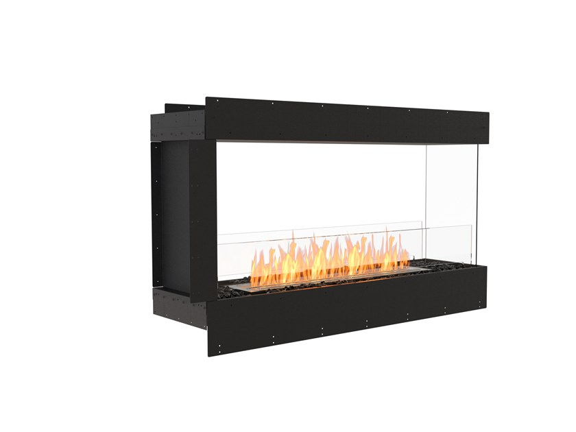 Bioethanol steel Fireplace insert with Panoramic Glass FLEX 50PN by EcoSmart Fire