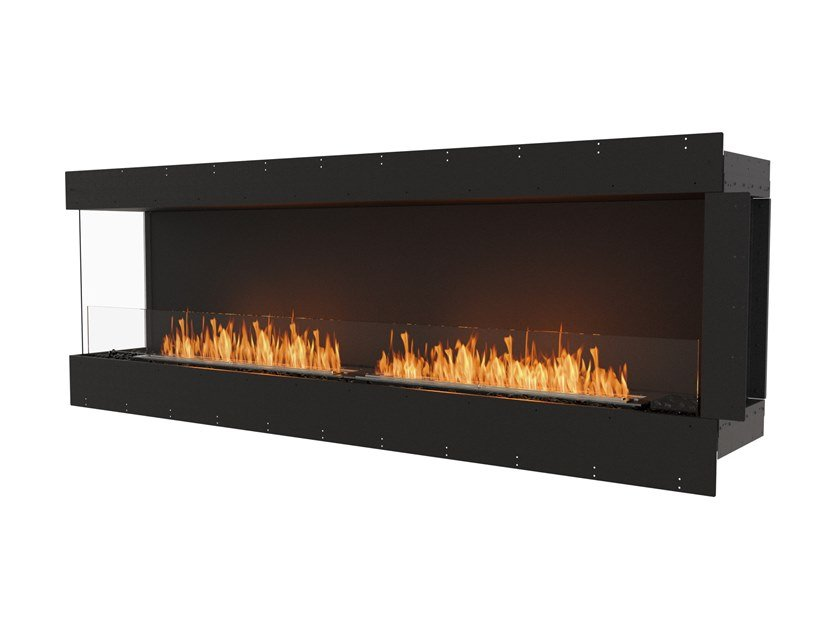 Bioethanol steel Fireplace insert with Panoramic Glass FLEX 86LC by EcoSmart Fire