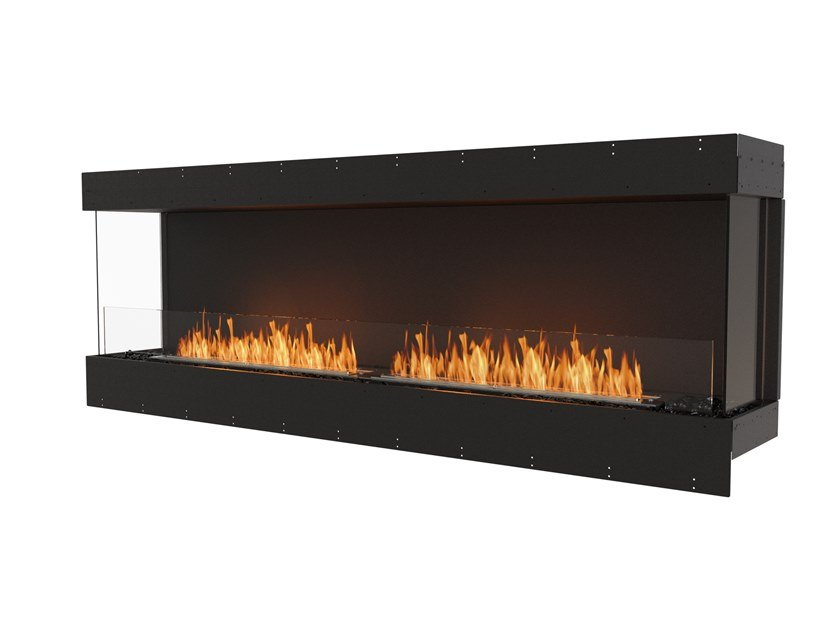 Bioethanol steel Fireplace insert with Panoramic Glass FLEX 86BY by EcoSmart Fire