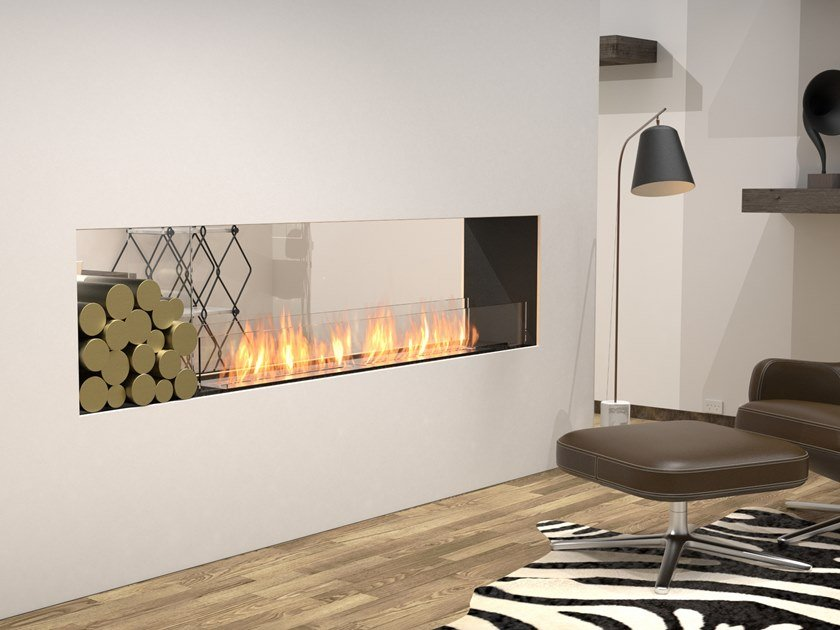 Bioethanol Double-sided steel Fireplace insert with Panoramic Glass FLEX 86DB BX1 by EcoSmart Fire