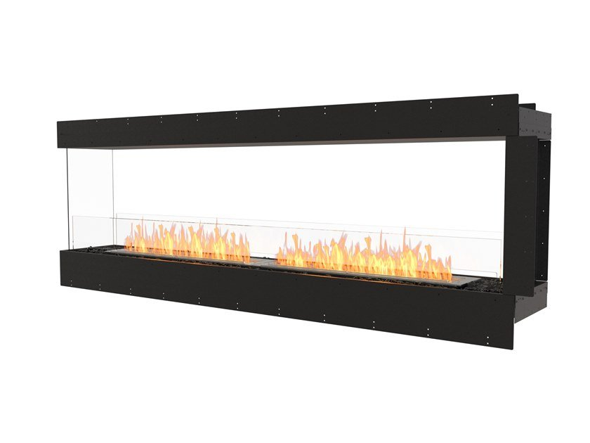Bioethanol steel Fireplace insert with Panoramic Glass FLEX 86PN by EcoSmart Fire