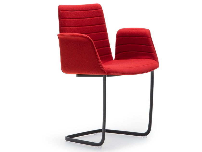 Cantilever upholstered chair with armrests FLEX ARMCHAIR SO1635 by Andreu World
