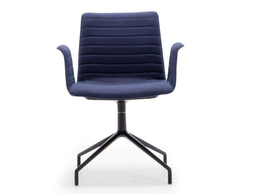 Swivel upholstered chair with armrests FLEX ARMCHAIR SO1646 by Andreu World