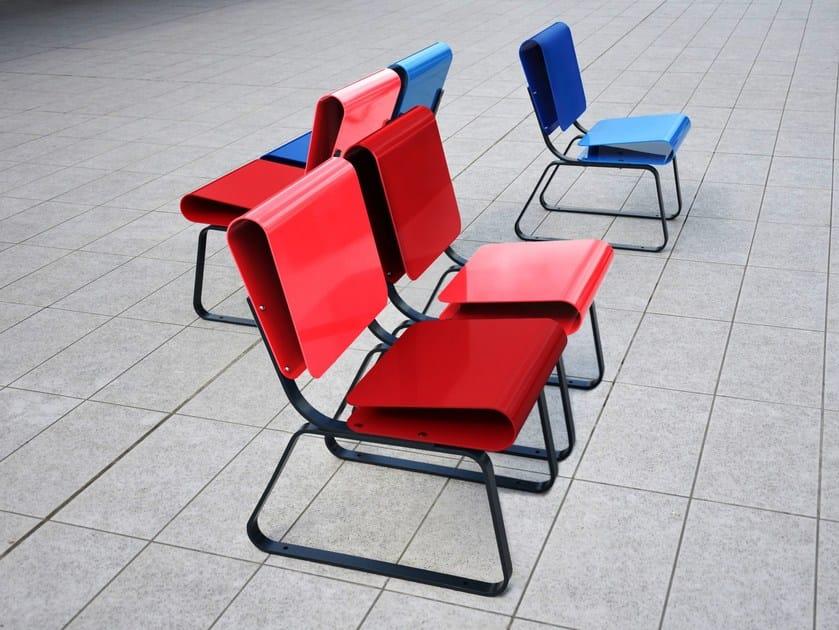 Modular galvanized steel Bench FLEX by LAB23 Gibillero Design