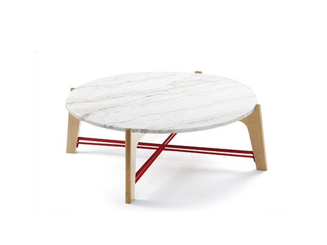 Low round marble coffee table FLEX | Low coffee table by Mambo Unlimited Ideas