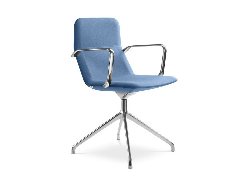 Swivel trestle-based chair with armrests FLEXI CHL-BR F20-N6 by LD Seating