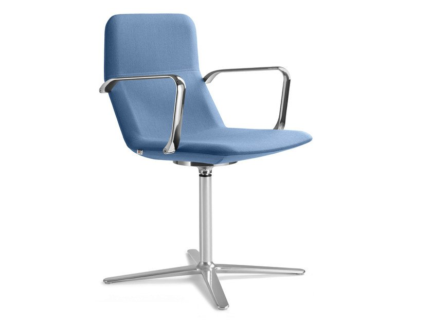 Swivel chair with 4-spoke base with armrests FLEXI CHL-BR F25-N6 by LD Seating