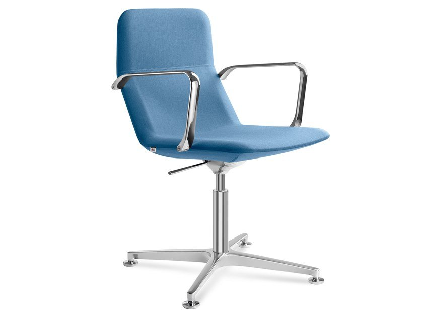 Height-adjustable task chair with armrests FLEXI CHL-BR-F60-N6 by LD Seating